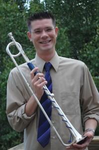 Josh with his baroque trumpet