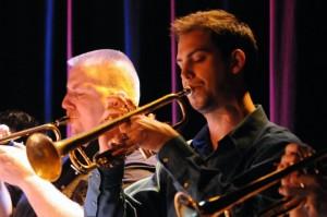 Lars Halle Jazz Orchestra: Matt Gallagher (L), Jonathan Barnes (R). Photo credit: Dave Jackson