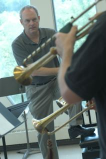 Barry teaching at the Baroque Performance Institute