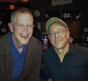 Dave Douglas and I at Blues Alley, Washington, DC (November 13, 2012)