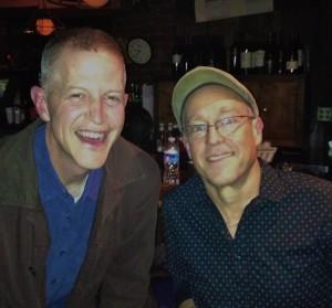 Dave Douglas and I at Blues Alley, Washington, DC (November 13, 2012)