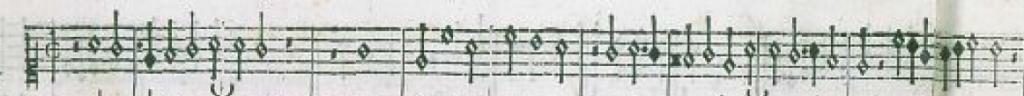 """Facsimile of top voice of """"Ancor che col partire"""""""