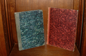 Two Privately Bound French Cornet Books from 19th Century