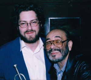 Brant Tilds with Eddie Palmieri in Pasadena, CA, ca. 1995