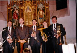 With Florida State Brass Quintet in Koblenz, Germany 1995