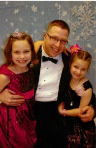 Chris Sala with his two girls