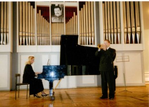 With Kathryn Fouse in Saratov, Russia 1996