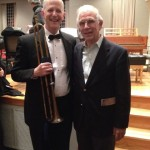 Bach historian Christoff Wolff and me after a Washington Bach Consort concert at Kenyon College