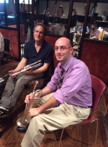 Mike with Chris Gekkeer in Avatar Studios recording world premieres with the Manhattan Contemporary Music Ensemble (2014)