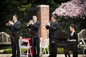 Tryos Ensemble: L to R, Kevin Businsky, Neil Brown, Kevin McKee, Hyojin Ahn