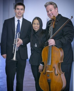 Trio illumino: L to R, Neil Brown, Virginia Lum, Stephen Czarkowski. Photo credit: Bruce Vartan Boyajian