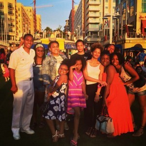 David Smith with family at the National Harbor