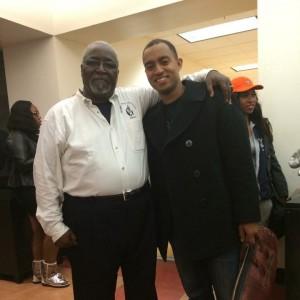 Melvin Miles Jr., director of bands at Morgan State University, with David Smith