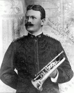 Herbert L. Clarke as a member of the Victor Herbert Band (c. 1896)