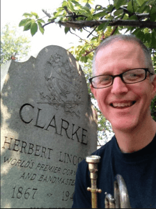 Me at the grave marker of Herbert L. Clarke