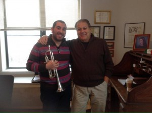 with Vincent Penzarella, former member of the New York Philharmonic