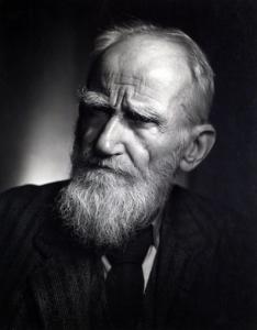 Irish playwright and journalist, George Bernard Shaw