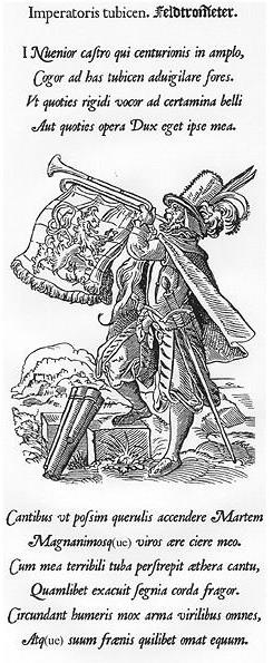 """Jost Amman's """"Field Trumpeter"""" (1568)"""