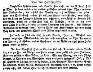 """Selection from Altenburg's """"Trumpeters' and Kettledrummers' Art"""" about Court Trumpeters"""