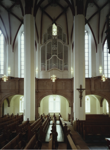 Organ loft at St. Thomaskirche, Leipzig
