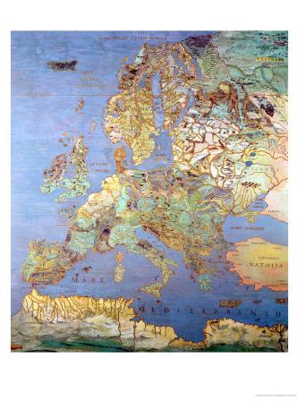 16th-century map of Europe