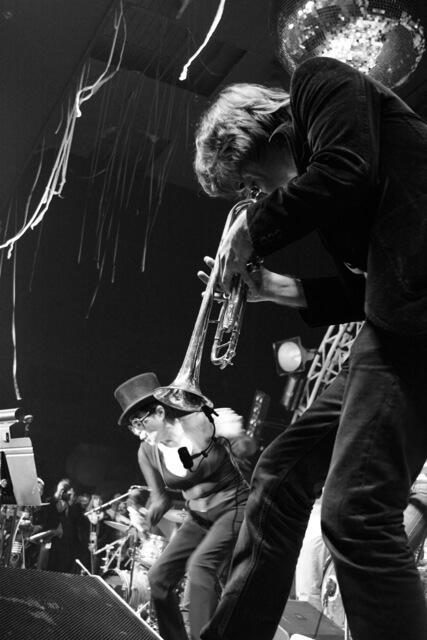 CJ Camerieri performing with Yoko Ono and the Plastic Ono Band