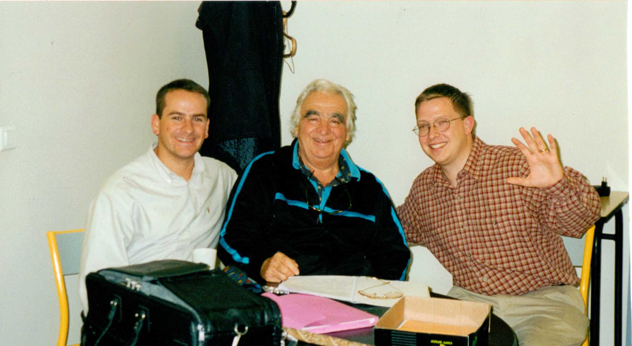 With Maurice Andre and Nicholas Andre in Paris, France 2000