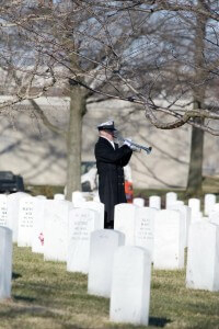"MU1 Neil Brown playing ""Taps"" at Arlington National Cemetery"