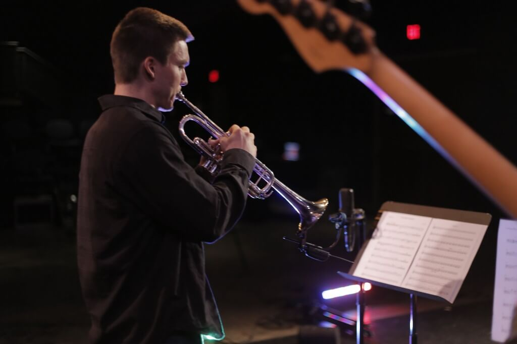 Trumpeter Neil Brown playing with Phonic Wrinkle