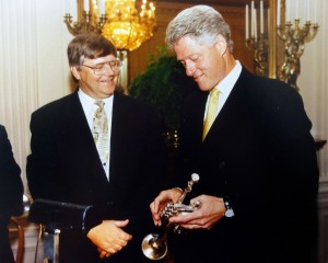Steve Hendrickson with President Bill Clinton