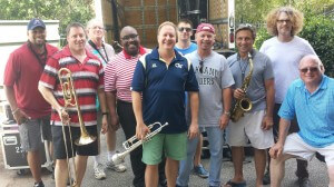 The Tuscaloosa Horns near Atlanta for a Four Tops concert, July 2015.