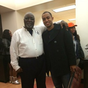Melvin Miles Jr., director of bands at Morgan State University, with David Smith