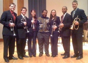 Penn State trumpet ensemble with the great Dr. Langston Fitzgerald III (who was also a member of the US Navy Band)