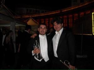 with teacher Claudio Gironacci, second trumpet of the Teatro di San Carlo di Napoli